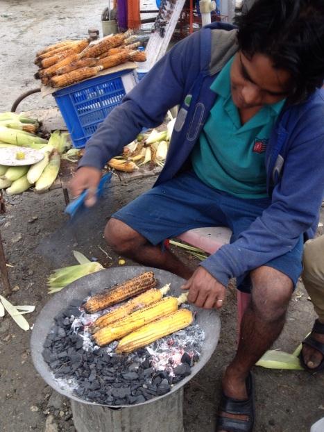 Mjammie, gegrilde maïs met vleugje limoen!