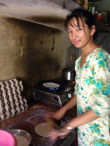 Uitgenodigd voor theekransje (chai) met chapati, fijn