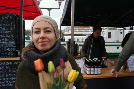 Paulina, sweet Paulina, lives in Prague, originally from Slovakia, met her via warmshowers.org, slept at her place, went together to the farmers market and had really nice chats #CzechRepublic