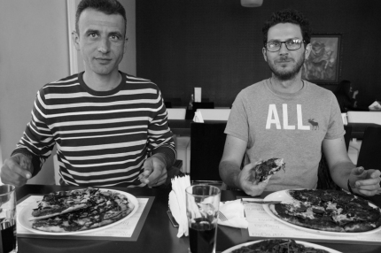 Calin and Stefan from the WWF office in Baia Mare didn't only overwhelmed me with tons of information about their projects but also with a yummy pizza #WWF #Romania