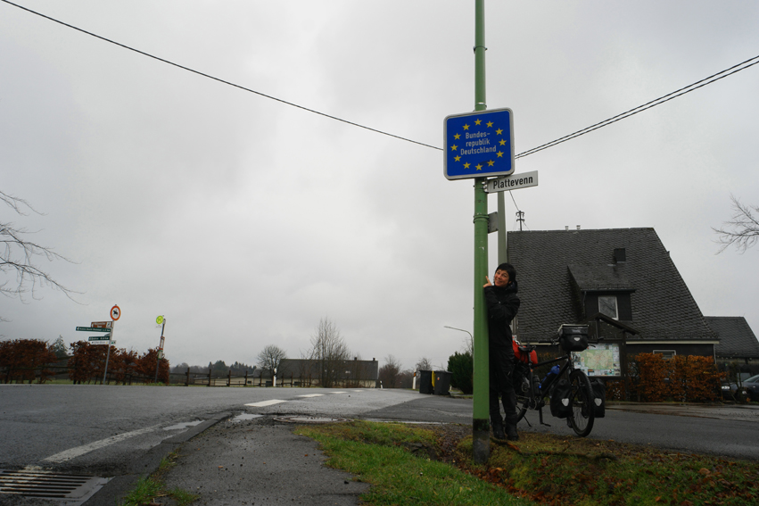 Sodden but so happy, first border crossing, country 2. Germany here I come! #Germany