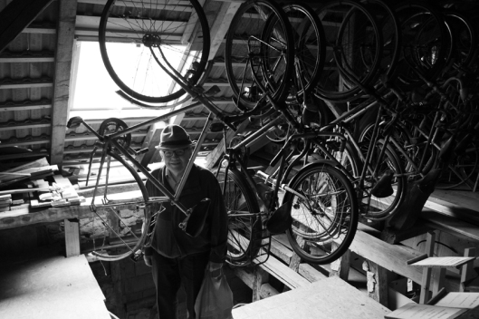 The man with an enormous collection of vintage bicycles showed me his paradise. I became wild, can you imagine? #Germany