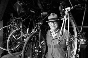 The man with a huge collection of all vintage bicycles. He showed me his paradise. I became wild ;-) #Germany