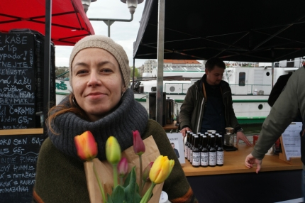 Paulina, sweet Paulina, lives in Prague, originally from Slovakia. Met her via warmshowers.org. Slept at her place, talked till the wee hours, went together to the farmers market… Good times! #Prague #CzechRepublic