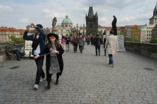 It was more fun taking pictures of people taking pictures than of all the tourist highlights #Prague #CzechRepublic