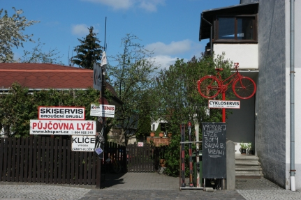 Hanging bicycles in every country #CzechRepublic