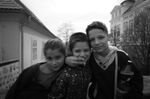I met these young fellows near the monastery of Broumov, sweet kids, proud to talk some English and to join me a while with my bicycle #CzechRepublic