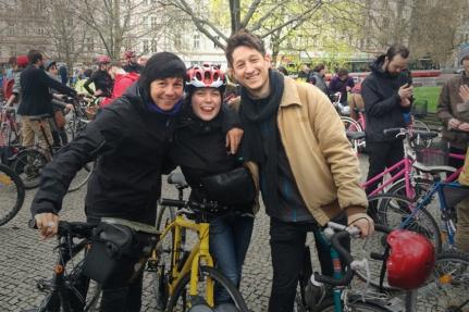 Together with Nina and Dante at Velká Jarní Cyklojízda #Prague #CzechRepublic