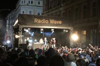 Afterparty from the mass ride, enjoying a hip hop concert #Prague #CzechRepublic
