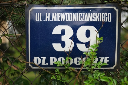 You see them very often, old house numbers on metal plates. I like #Poland