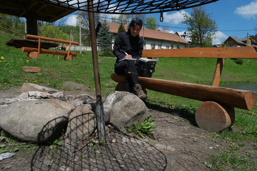 Barbecue places in a lot of villages. A nice place to write a blogpost #Poland