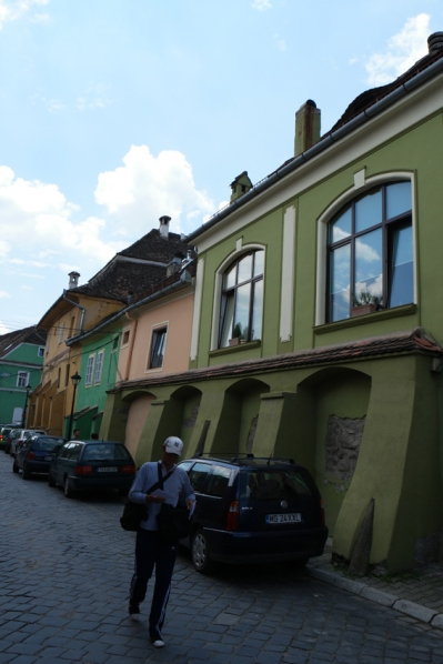 Colourful houses in the whole touristy city #Sighișoara #Romania