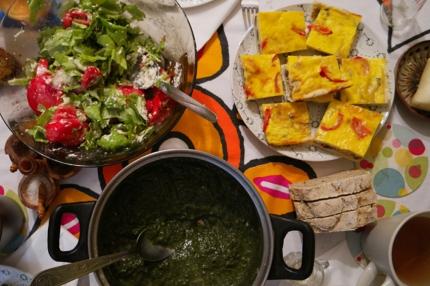 Yummy food at Teo's home #Bran #Romania
