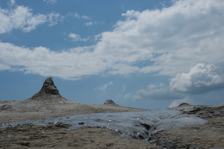 Mud volcanoes in Berca #Romania