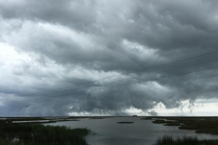Clouds are capturing a house #Danube Delta #Romania