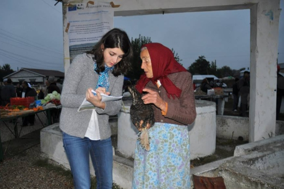Here you see Ioana at 5 a.m. back in 2009 in a village called Islaz (Teleorman County). She went to the farmer market to talk to the villagers and convince them to let WWF do 'the good job' #Romania