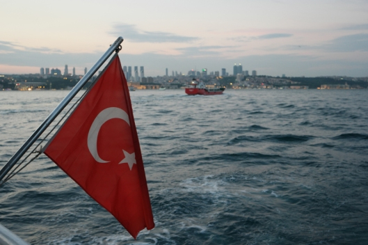 Turkish flag all around #Bosporus #Istanbul #Turkey