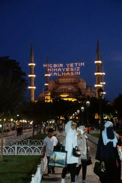 'Hiçbir yetim himayesiz kalmasın' is also a phrase from the Quran, a kind of wish, meaning: any orphan won't be alone #Istanbul #Turkey