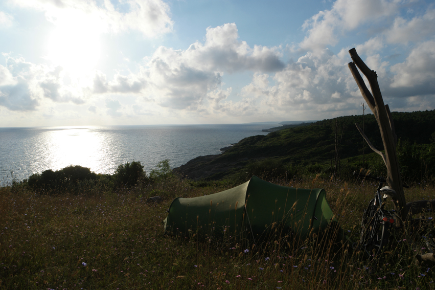Nice campspot near the black sea #Turkey