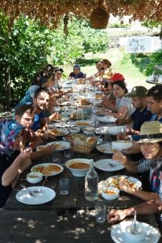 The dining area was too nice and so was the organic food #NarköyOrganicFarm #Kerpe #Turkey