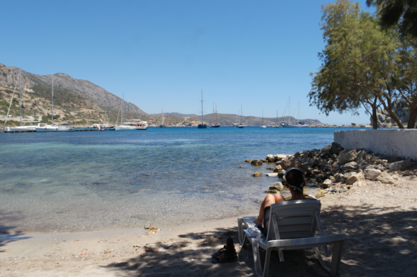 In Knidos I found a lost beach chair. Just perfect for some sunday afternoon relaxation #DatçaPeninsula #Turkey