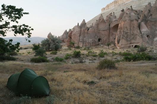 So far, in my top 3 list of favorite camping spots #Cappadocia #Turkey
