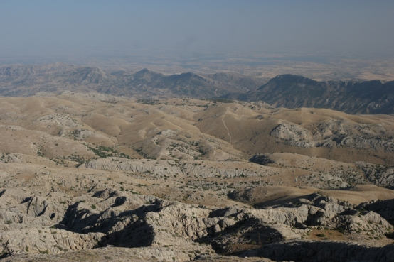 Always nice to look behind and see what you've cycled #Nemrut #Turkey
