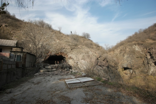 Looking back to the tunnel I came from. And workers waved me goodbye #Armenia