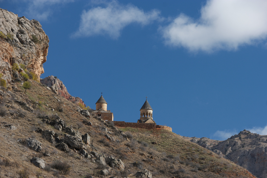 No Armenia posts without showing a monastery or church. They're always located on the most magical places, high in the mountains with beautiful views of the surrounding area. Here you see 13th-century Noravank with its two-storey church that has a narrow stone-made staircase at the facade. When you want to go downstairs you feel like a monkey using hand and feet #Armenia