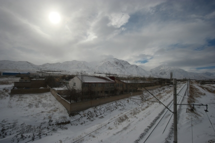Waking up in snow, pedalling in snow #Iran