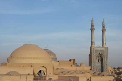 View from the rooftop terrace of the hostel #Yazd #Iran