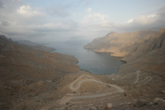 Day by day I was trying to become more confident on the bike. Quite fast I got to know the gradients and the beauty of Oman's mountains. Khor an Najd is the only accessible khor (inlet) by car/bike on Musandam peninsula. The others are only reachable by boat, which is way too expensive for my tiny budget #Oman