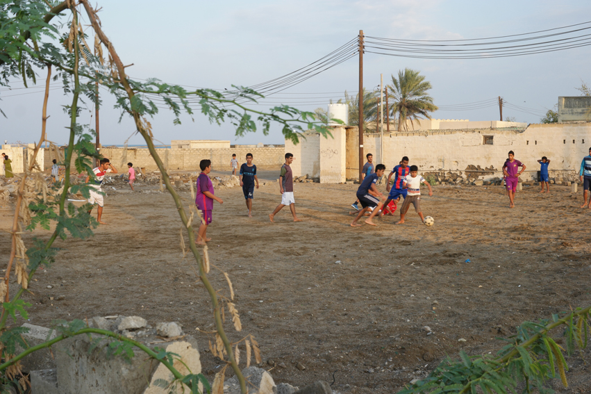 Every day around 5 pm young and old started playing football #Oman