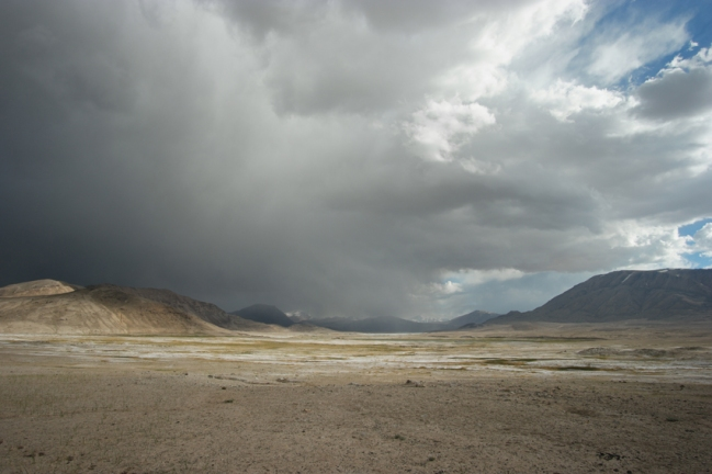 The rain was playing games with me for a couple of hours #tajikistan