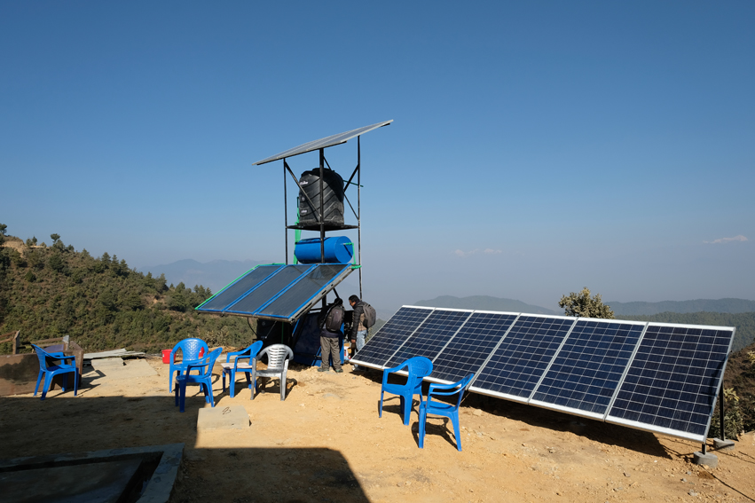 Each installed help post has a solar panel as a backup