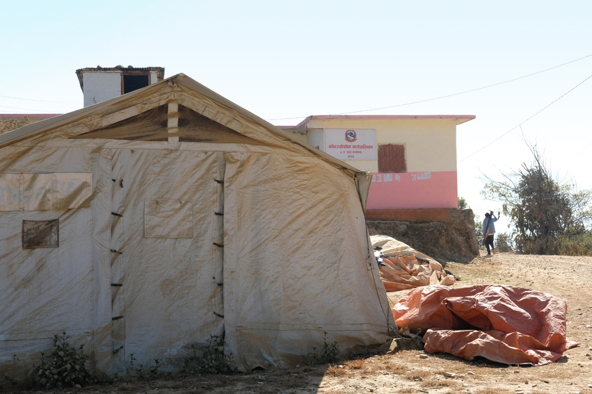 The medical services were accommodated in temporary tents or rented houses